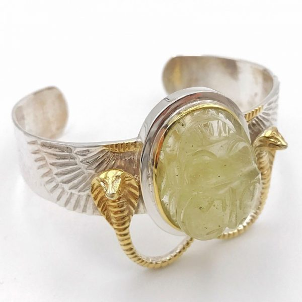 libyan-tektite-scarab-wing-bracelet