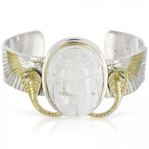 Quartz Crystal Scarab Bracelet