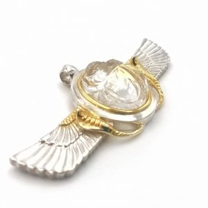 Quartz Winged Scarab Pendant