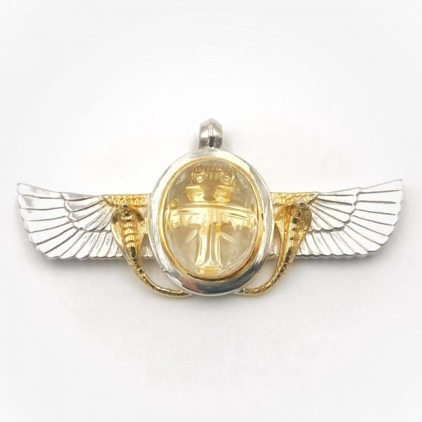 wings-of-isis-sacrab-beetle-clear-quartz-silver-gold-plated